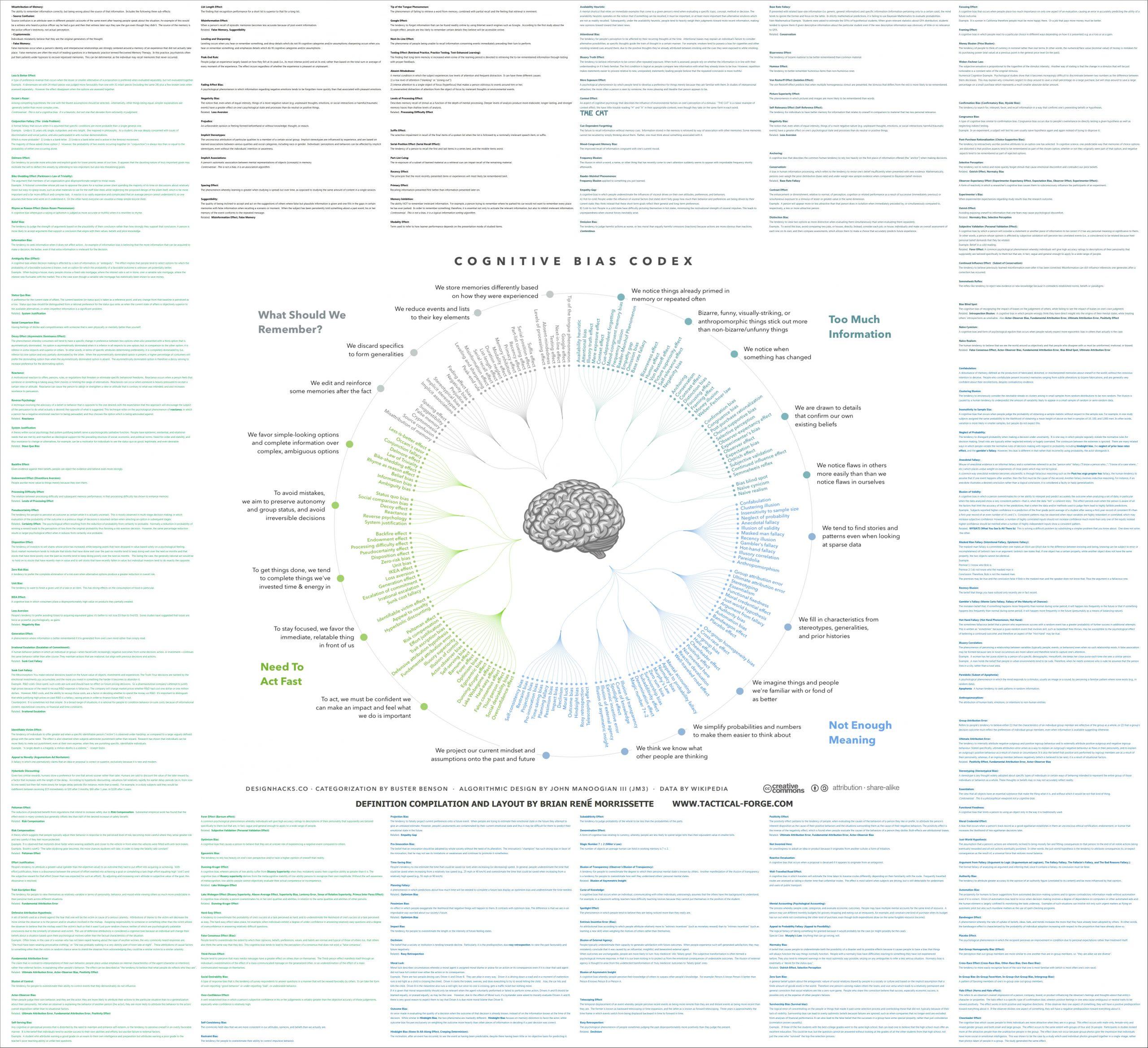 Infografica Bias Cognitivi